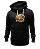 "Толстовка Wearcraft Premium унисекс ""Мопс Бургер"" - еда, pug, собака, мопс, бургер"