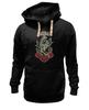 "Толстовка Wearcraft Premium унисекс ""Anchor old school"" - арт, rose, море, якорь, роза, old school, sea, anchor, старая школа, ласточка"