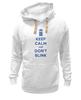 "Толстовка Wearcraft Premium унисекс ""Keep Calm and Don't Blink (Tardis)"" - сериал, doctor who, tardis, доктор кто, машина времени"