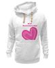 "Толстовка Wearcraft Premium унисекс """"LOVE"""" - праздник, день святого валентина, 14-февраля, розовое сердце"