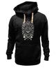 """Толстовка Wearcraft Premium унисекс """"Томагавк """" - skull, череп, кости, кость, перо, топор, перья, индейцы, рога, native american"""