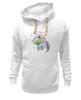 """Толстовка Wearcraft Premium унисекс """"Муравьед с цветами"""" - праздник, цветы, 8 марта, поздравление, муравьед"""