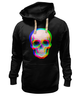 """Толстовка Wearcraft Premium унисекс """"Череп 3D"""" - skull, абстракция, череп, 3d"""