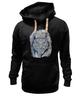 """Толстовка Wearcraft Premium унисекс """"Doodle Owl"""" - арт, птица, графика, синий, сова, филин, blue, owl, перья, doodles"""