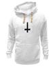 """Толстовка Wearcraft Premium унисекс """"Крест"""" - крест, pixelart, церковь, атеизм, перевернутый"""