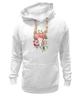 """Толстовка Wearcraft Premium унисекс """"Flower skull"""" - skull, череп, цветы, листья"""