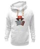 """Толстовка Wearcraft Premium унисекс """"Медведь с гармошкой"""" - арт, звезда, bear, медведь, россия, russia, аккордеон, ушанка, патоиотические футболки, медведт"""