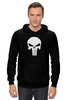 "Толстовка Wearcraft Premium унисекс ""Череп Карателя"" - skull, marvel, punisher, каратель, antihero"