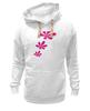 """Толстовка Wearcraft Premium унисекс """"розовые цветы"""" - купить, сумку"""