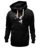 """Толстовка Wearcraft Premium унисекс """"Японская сакура"""" - цветы, вишня, иероглифы, сакура"""