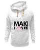 "Толстовка Wearcraft Premium унисекс ""Make Love Not War"" - social"