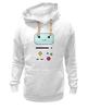 "Толстовка Wearcraft Premium унисекс ""BMO  Adventure Time"" - adventure time, время приключений, bmo, бимо, финном и джейком"