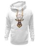 """Толстовка Wearcraft Premium унисекс """"Хранитель снов"""" - голова, животные, дикий, сон, олень, зверь, символ, талисман, ловец снов, рога"""