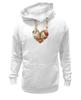 "Толстовка Wearcraft Premium унисекс ""Skull Art"" - heart, skull, сердце, цветы, череп"