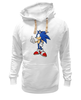 """Толстовка Wearcraft Premium унисекс """"Sonic the Hedgehog"""" - games, игры, ёжик, компьютерные игры, pc, соник, sonic, 80's, video games"""