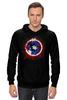 "Толстовка Wearcraft Premium унисекс ""Shield"" - marvel, мстители, капитан америка, captain america"