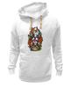 "Толстовка Wearcraft Premium унисекс ""бульдоги"" - dog, роза, roses, бульдог, bulldogs"