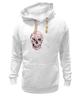 """Толстовка Wearcraft Premium унисекс """"Цветочный Череп"""" - skull, для девушек, цветы, черепа"""