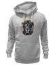 """Толстовка Wearcraft Premium унисекс """"Лев и роза"""" - лев, lion, царь зверей"""