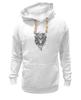 """Толстовка Wearcraft Premium унисекс """"Тигр.Маска"""" - чёрное и белое"""