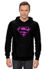 "Толстовка Wearcraft Premium унисекс ""SuperMan EMO sweatshirt"" - superman, pink, эмо, e-one, emotion"