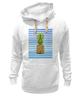 """Толстовка Wearcraft Premium унисекс """"Ананасовая тельняшка"""" - лето, ананас, pineapple, тельняшка"""