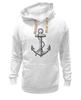 """Толстовка Wearcraft Premium унисекс """"Держись сильнее за якорь"""" - якорь, anchor, sailor, флот, гребенщиков, бг, держись сильнее за якорь"""