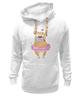 "Толстовка Wearcraft Premium унисекс ""Мопс в юбке"" - сердце, pug, гламур, собачки, мопс"