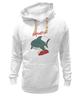 "Толстовка Wearcraft Premium унисекс ""Акула (Baywatch)"" - акула, shark, спасатели малибу, baywatch"