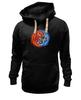 """Толстовка Wearcraft Premium унисекс """"Yin Yang"""" - инь и янь, yin yang, инь янь, орёл, тигр"""