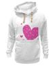 "Толстовка Wearcraft Premium унисекс """"LOVE"""" - праздник, сердце, любовь, розовое, девушке, девочке, сердечки"