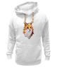 """Толстовка Wearcraft Premium унисекс """"Poly Fox"""" - fox, лиса, полигоны"""