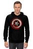 "Толстовка Wearcraft Premium унисекс ""Captain America"" - комиксы, супергерой, marvel, капитан америка, captain america"