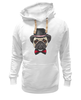"Толстовка Wearcraft Premium унисекс ""Мопс."" - собака, бабочка, dog, pug, мопс"