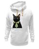"""Толстовка Wearcraft Premium унисекс """"Деловой кот"""" - кот, мем, cat, mem, black cat, деловой кот, business cat, suit n tie"""