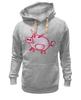 """Толстовка Wearcraft Premium унисекс """"Розовый поросенок"""" - арт, счастье, малыш, свин, розовый поросенок"""