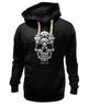 "Толстовка Wearcraft Premium унисекс ""GAME OVER"" - skull, череп, игры, space invader, захватчик"