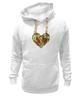 """Толстовка Wearcraft Premium унисекс """"Fruit Heart"""" - heart, фрукты, fruit, вегетарианство, vegan"""