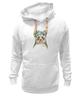 "Толстовка Wearcraft Premium унисекс ""Панда в венке"" - цветы, панда, природа, panda, акварель"