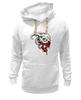 """Толстовка Wearcraft Premium унисекс """"Череп козла"""" - череп, кровь, рога, козел"""