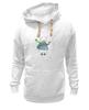 "Толстовка Wearcraft Premium унисекс ""Белый мишка"" - зима, мишки"