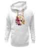 """Толстовка Wearcraft Premium унисекс """"Альберт Эйнштейн (Albert Einstein)"""" - albert einstein, физика, полигоны, polygons, альберт эйнштейн"""