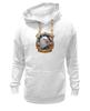 "Толстовка Wearcraft Premium унисекс ""American Eagle"" - орёл, eagle, america, американский флаг, american flag"
