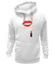 """Толстовка Wearcraft Premium унисекс """"Губы и помада"""" - губы, помада, wax, губы и помада, накрашеные губы"""