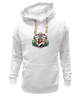 "Толстовка Wearcraft Premium унисекс ""Sealand White"" - белая, герб, sealand, силэнд"