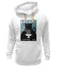 """Толстовка Wearcraft Premium унисекс """"Fat Cat"""" - любовь, кот, кошка, кофе"""