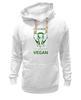 """Толстовка Wearcraft Premium унисекс """"I'm strong & i'm vegan"""" - веган, vegan"""