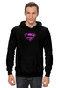 "Толстовка Wearcraft Premium унисекс ""SuperMan EMO"" - night, superman, pink, эмо, emotion"