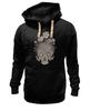 """Толстовка Wearcraft Premium унисекс """"Цветочный череп"""" - skull, череп, цветы"""