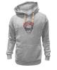 "Толстовка Wearcraft Premium унисекс ""Череп Хипстера"" - skull, череп, девушка, хипстер, hipster"